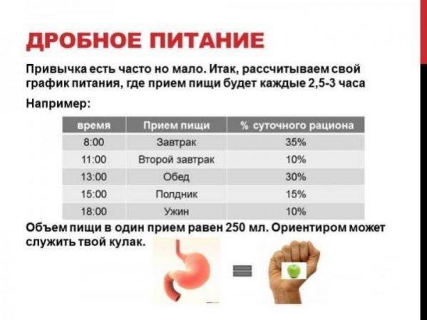 Принцип дробного питания