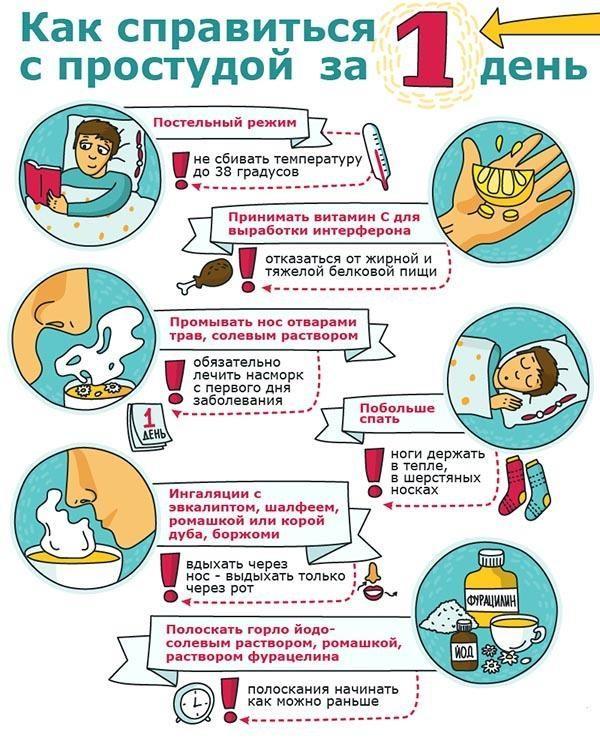 Рекомендации как справиться с простудой за 1 день