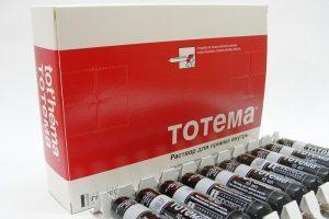 Тотема принимается для поддержания организма при легких и серьезных отклонениях гемоглобина от нормы