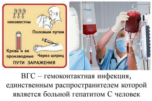 Как передается гепатит С