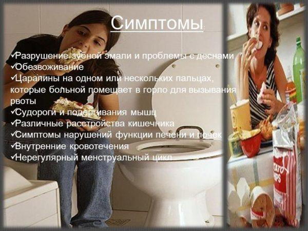Как проявляется булимия