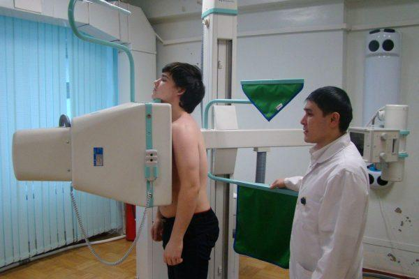 Процедура получения рентгенограммы