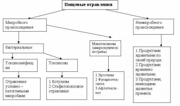 Классификация пищевых отравлений
