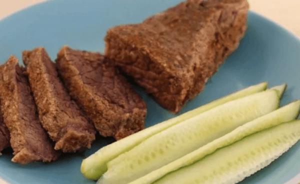Мясо на пару без соли и специй