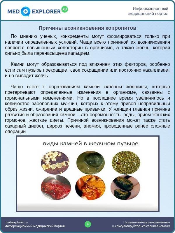Причины возникновения копролитов