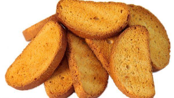 Сухарики из хлеба можно в малых количествах
