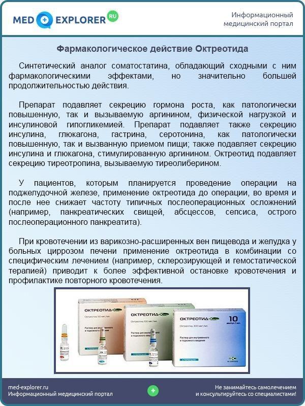 Фармакологическое действие Октреотида