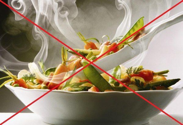 Пища не должна быть горячей