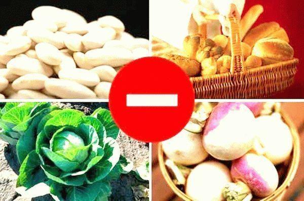При геморрое необходимо исключить из рациона сладкую выпечку, бобовые, некоторые виды овощей