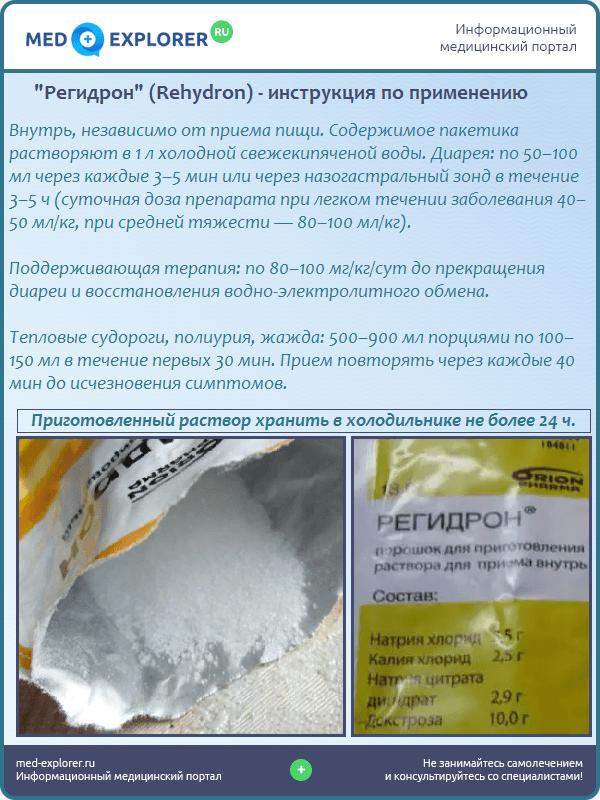 """""""Регидрон"""" (Rehydron) - инструкция по применению"""