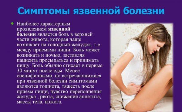 Признаки язвенной болезни