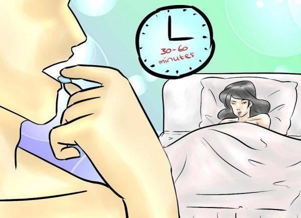 Примите препарат за полчаса-час до полового акта