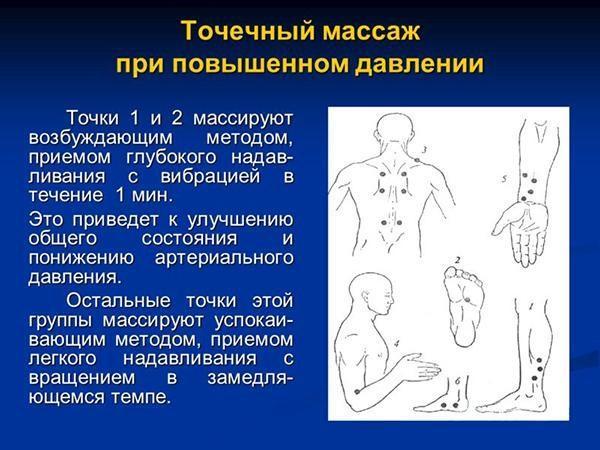 Точечный массаж при повышенном давлении