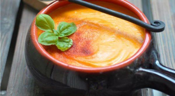 Крем-суп из печёной тыквы и картофеля