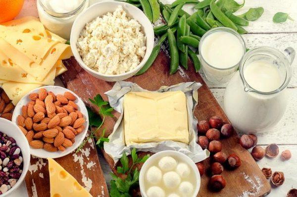 Продукты содержащие кальций и белок