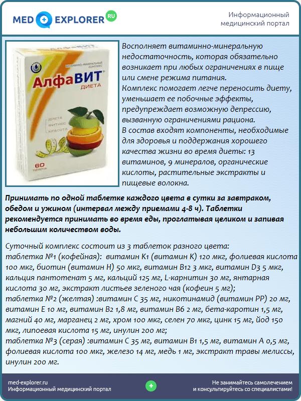 Как принимать витамины алфавит диета
