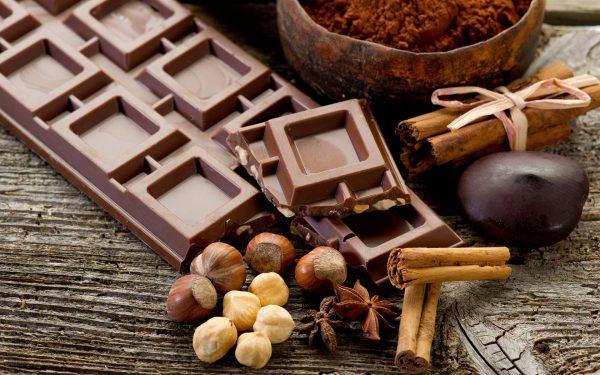 Шоколад и продукты с какао