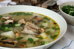 Суп из нежирной рыбы с крупами