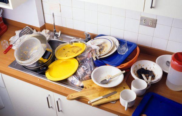 Грязная посуда - источник заражения