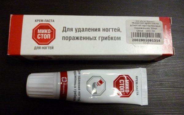 Крем-паста для удаления ногтей