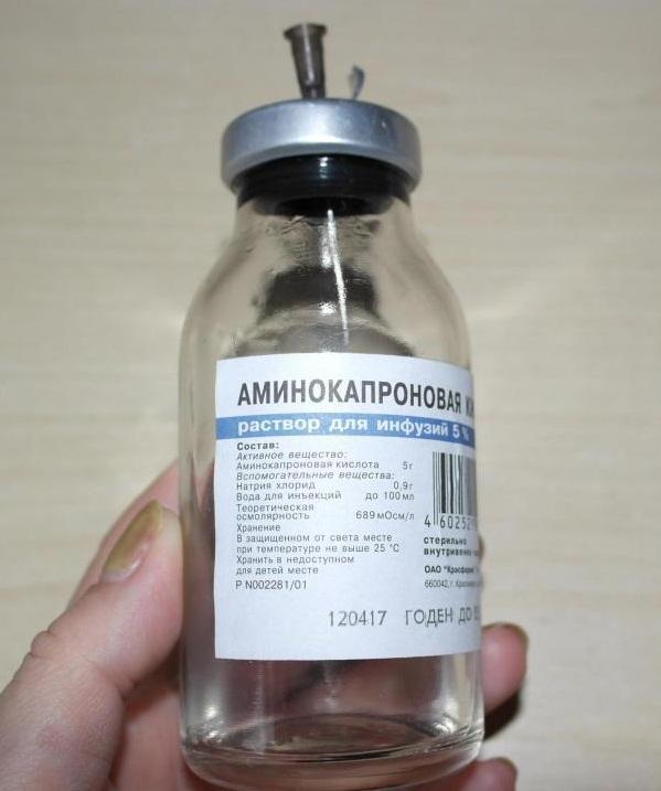 Остановить кровотечение поможет аминокапроновая кислота