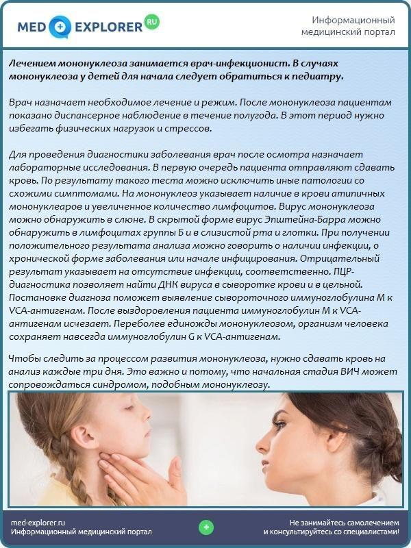 Диагностика мононуклеоза