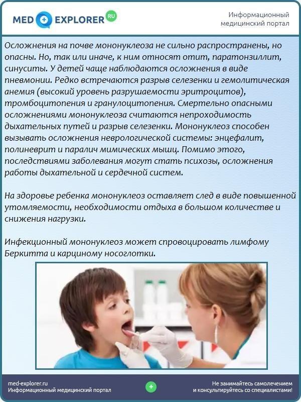 Осложнения мононуклеоза