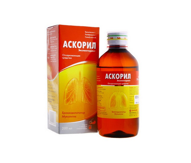 Отхаркивающее средство Аскорил