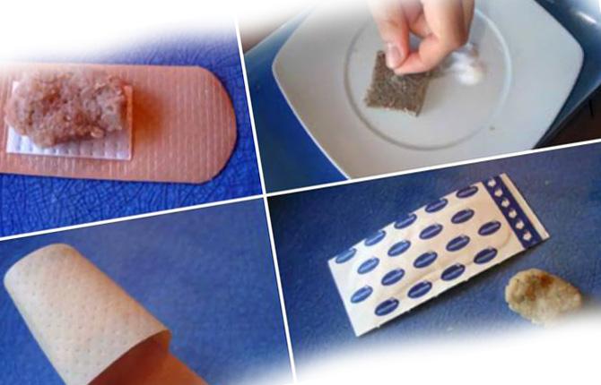 Как вытащить занозу из десны мякишем хлеба