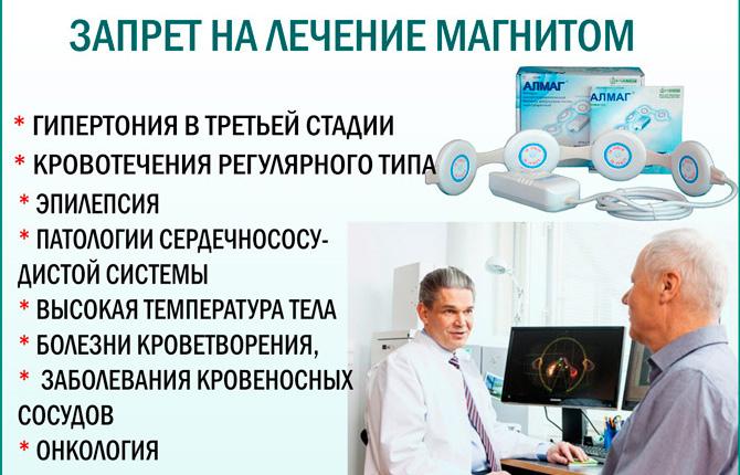 Противопоказания к магнитотерапии