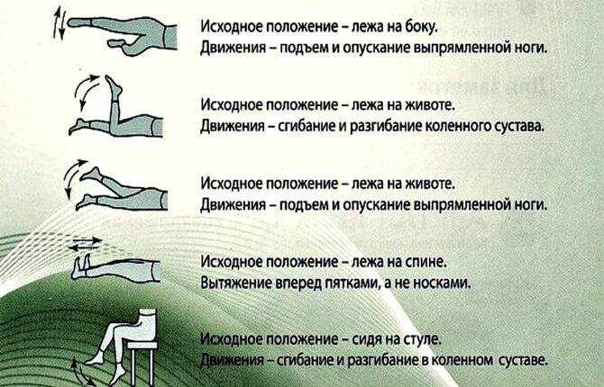 Гимнастические упражнения для ног