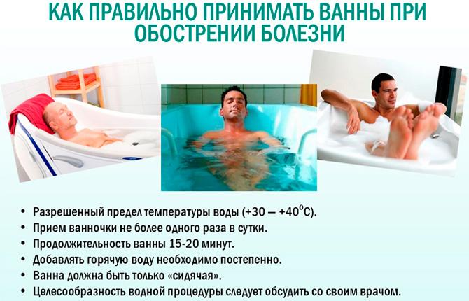 Прием ванн с перекисью водорода при простатите